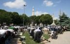 Ayasofya'da binler namaz kıldı