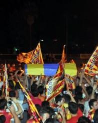 Galatasaray taraftarı şampiyonluğu kutladı