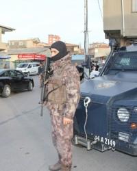 Pendik Aydos'ta Helikopter destekli Huzur Operasyo