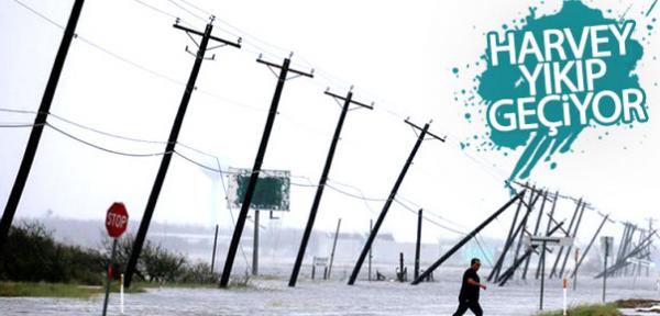 ABD'de Harvey Kasırgası yıkımı