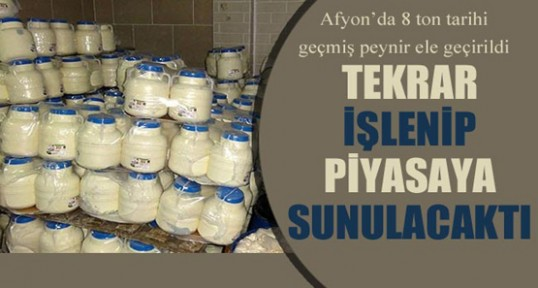 Afyonkarahisar'da 8 tonluk gıda terörü