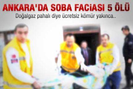 Ankara'da gaz sızıntısı: 5 ölü