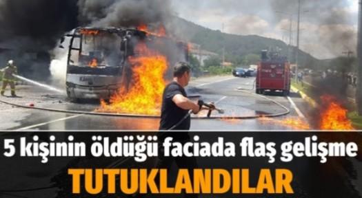 Balıkesir'de 5 kişinin öldüğü faciada 2 tutuklama