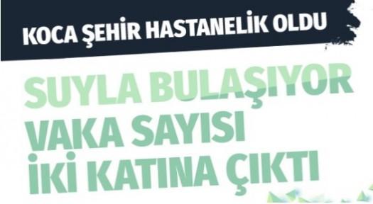 Burdur'da sudan bulaşan hastalık hızla yayılıyor sayı 2 katına çıktı