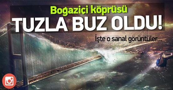 Cihan Engin, photoshop ve tablet kullanarak İstanbul'da kıyameti resmett