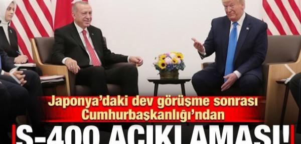 Cumhurbaşkanlığı'ndan 'S-400' açıklaması! 'Erdoğan ile Trump...'