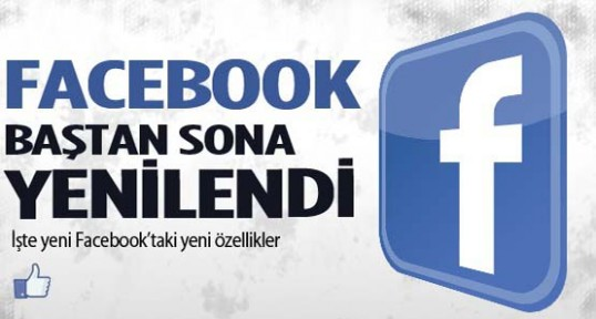 Facebook baştan aşağı yenilendi