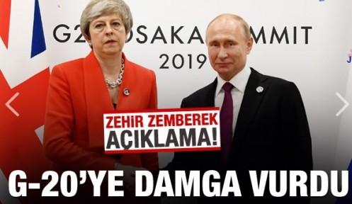 G20'ye damga vurdu! Zehir zemberek sözler!