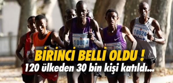 İSTANBUL MARATONUNDA BİRİNCİ BELLİ OLDU !