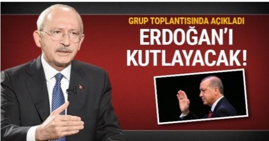 Kemal Kılıçdaroğlu Erdoğan'ı kutlayacak