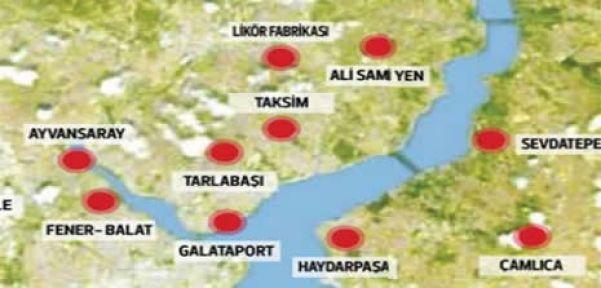 Mega şantiye İstanbul'un dört bir yanı proje