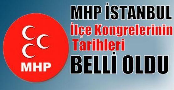 MHP İstanbul ilçelerinin kongre tarihleri belli olmaya başladı.