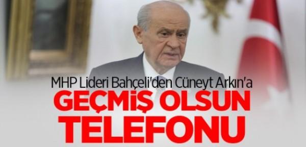 MHP Lideri Bahçeli'den, Cüneyt Arkın'a geçmiş olsun telefonu