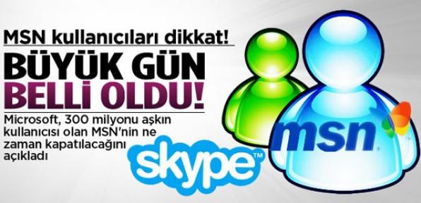 MSN'nin kapanacağı tarih belli oldu!