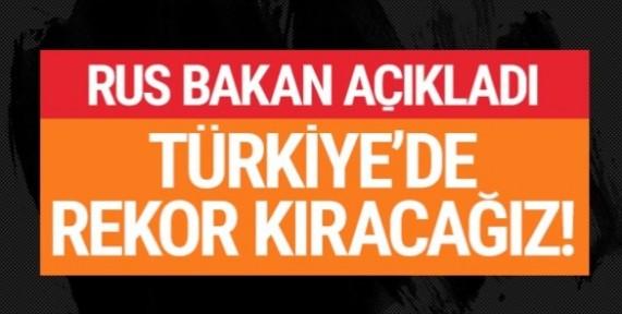 Rusya Enerji Bakanı Aleksandr Novak: Bu yıl Türkiye'de rekor kıracağız!