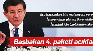 Başbakan Davutoğlu şeffaflık paketini açıkladı