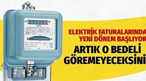 Elektrik faturalarında yeni dönem! Faturalar değişti