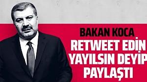 Fahrettin Koca 14 gün kuralını hatırlattı! Retweet edin