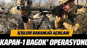 İçişleri Bakanlığı açıkladı PKK'ya karşı 'KAPAN-1 BAGOK' operasyonu başlatıldı