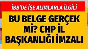 İstanbul Büyükşehir'de işe alımlar! Korkmaz Karaca'nın verdiği CHP belgesi olay