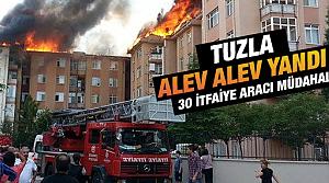 Penguenler Sitesinde çıkan yangın korkuttu