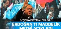 AK Parti'nin seçim manifestosu açıklandı