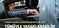 Cumhurbaşkanı Erdoğan özel araçta görünce...
