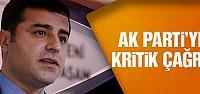 Demirtaş'tan AK Parti'ye kritik 2023 çağrısı