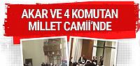Hulusi Akar Millet Camii'nde sabah namazı...