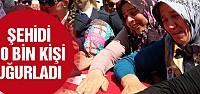 Şehit Polis Demir'i Sivas'ta 10 bin kişi uğurladı!
