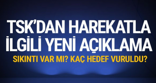 TSK'dan flaş Zeytin Dalı Harekatı açıklaması