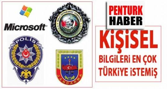 Türk İstihbaratı Microsoft'tan en çok bilgi isteyen ülke oldu