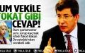 Davutoğlu'ndan Rum parlamentere cevap