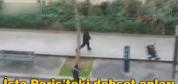 Paris'te çatışma anı böyle görüntülendi